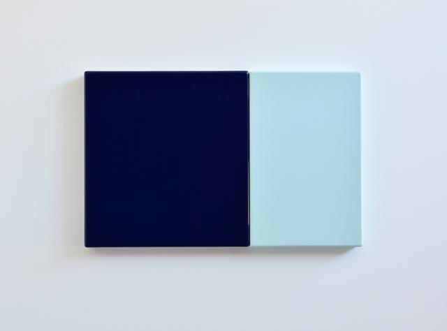 SUZIE IDIENS  Deep Blue Blue 2012 MDF, Polyurethane 45 ×75 ×5 cm