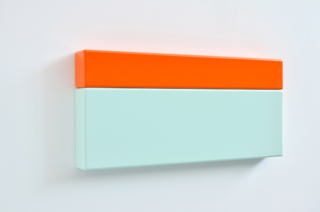 SUZIE IDIENS  Green Orange 2012 MDF, Polyurethane 32 ×70 ×7 cm
