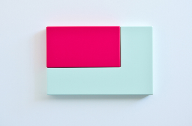 SUZIE IDIENS  Green Pink  2012 MDF, Polyurethane 40 ×62 ×7cm