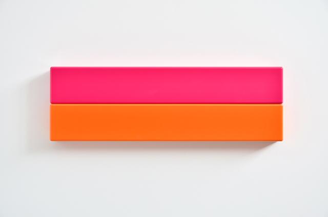 SUZIE IDIENS  Pink Orange 2012 MDF, Polyurethane 24 ×75 ×7cm