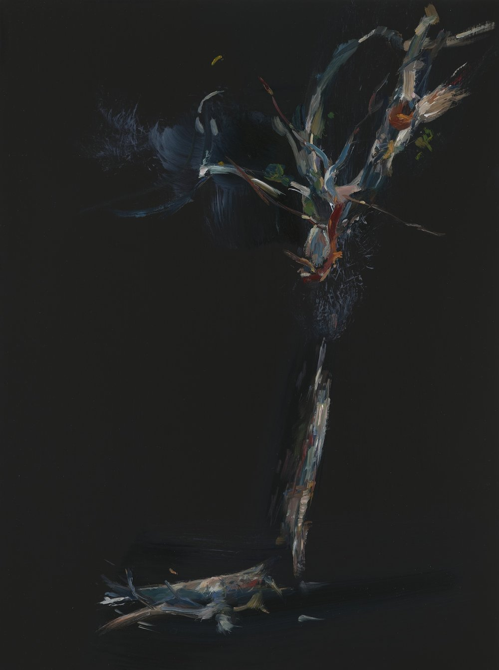 PAUL WILLIAMS  Fire cracker  2012 oil on board 50 × 35 cm