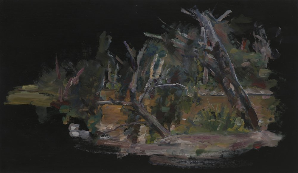 PAUL WILLIAMS  Passage through the river  2012 oil on board 40 × 40 cm