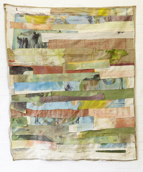 MELODY WILLIS  Remnant no. 2  2012 acrylic, thread, linen and hemp 125 × 106 cm