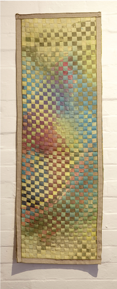 MELODY WILLIS  Reversal (long)  2012  acrylic, thread and hemp 125 × 45 cm