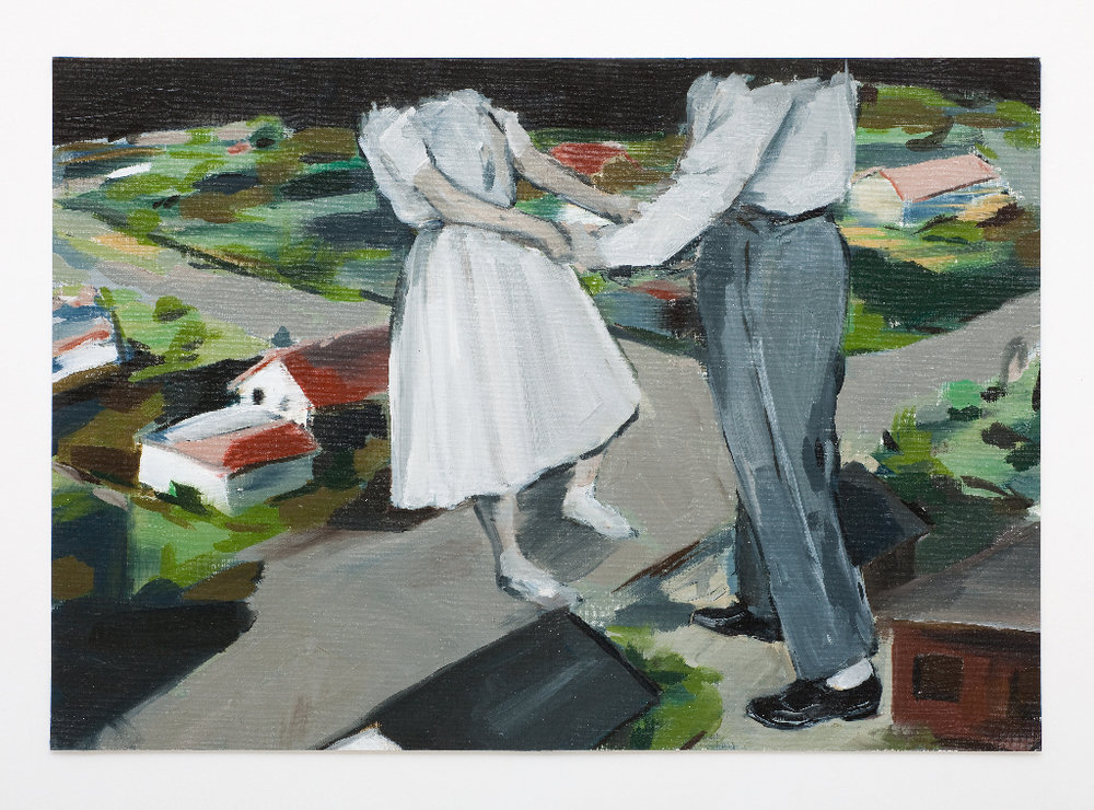 JELENA TELECKI  Bigger than this town  2012 oil on canvas paper 34 × 48 cm