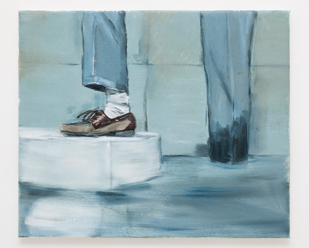 JELENA TELECKI  Boat shoe  2012 oil on canvas 51 × 61 cm