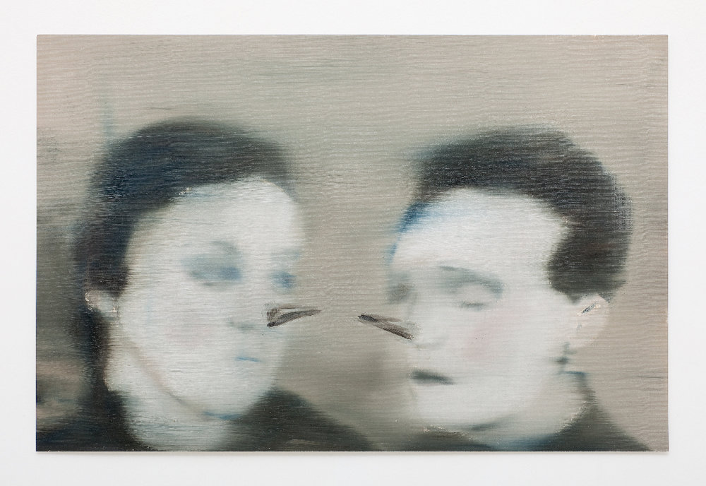 JELENA TELECKI  Couple  2012 oil on canvas paper 34 × 48 cm