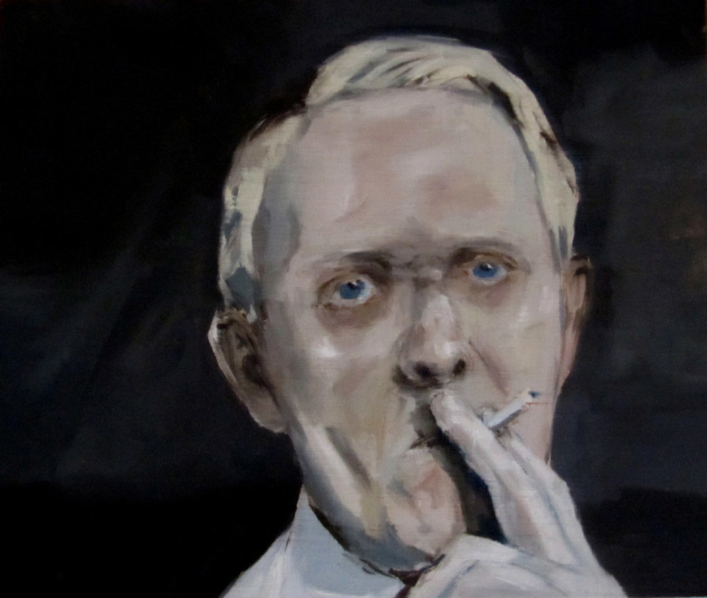 JELENA TELECKI  Doctor  2011 oil on linen 38 × 45 cm