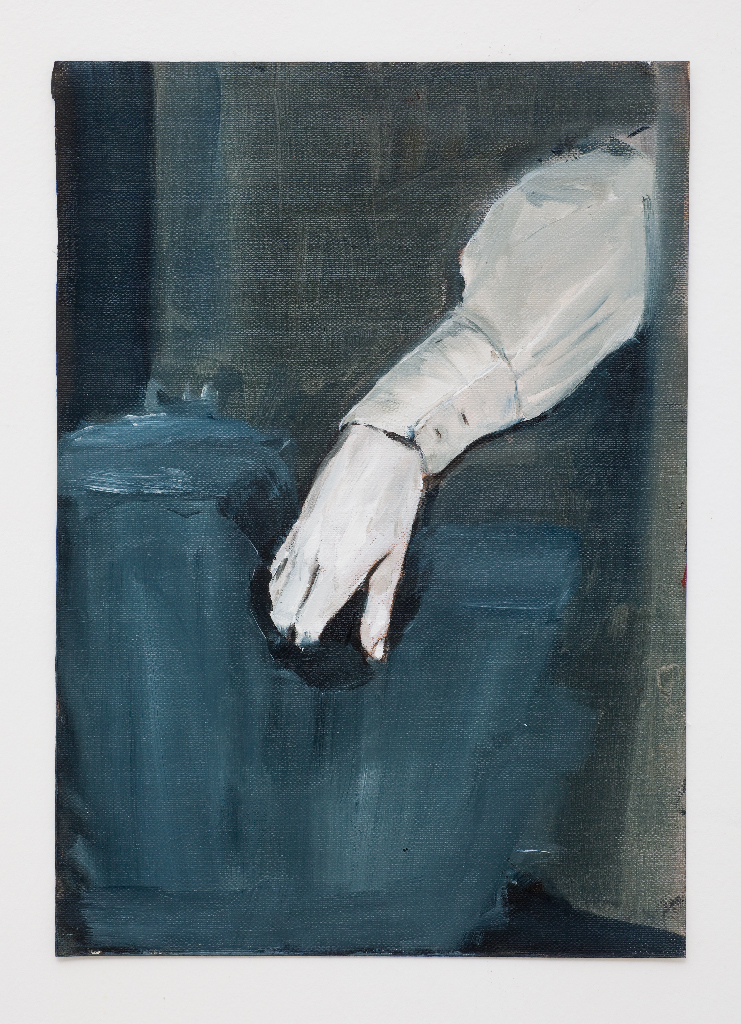 JELENA TELECKI  Elegantly desperate  2011 oil on canvas paper 29.7 × 21 cm