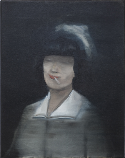 JELENA TELECKI  Nurse smoking  2012 oil on canvas 51 × 41 cm