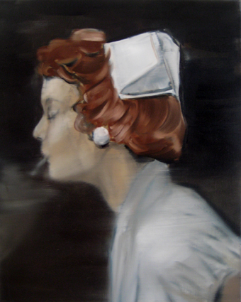 JELENA TELECKI  Nurse  2012 oil on canvas 51 × 41 cm