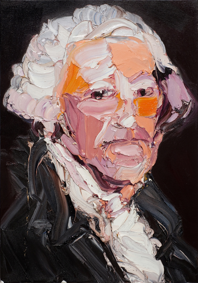 CRAIG WADDELL  Rise Of The Rank (after Stuart)  2012 oil on linen 107 ×76 cm
