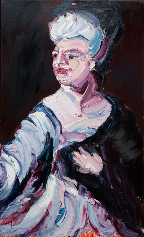CRAIG WADDELL  The Widowed   (after Velázquez)  2012 oil on linen 168 ×102 cm