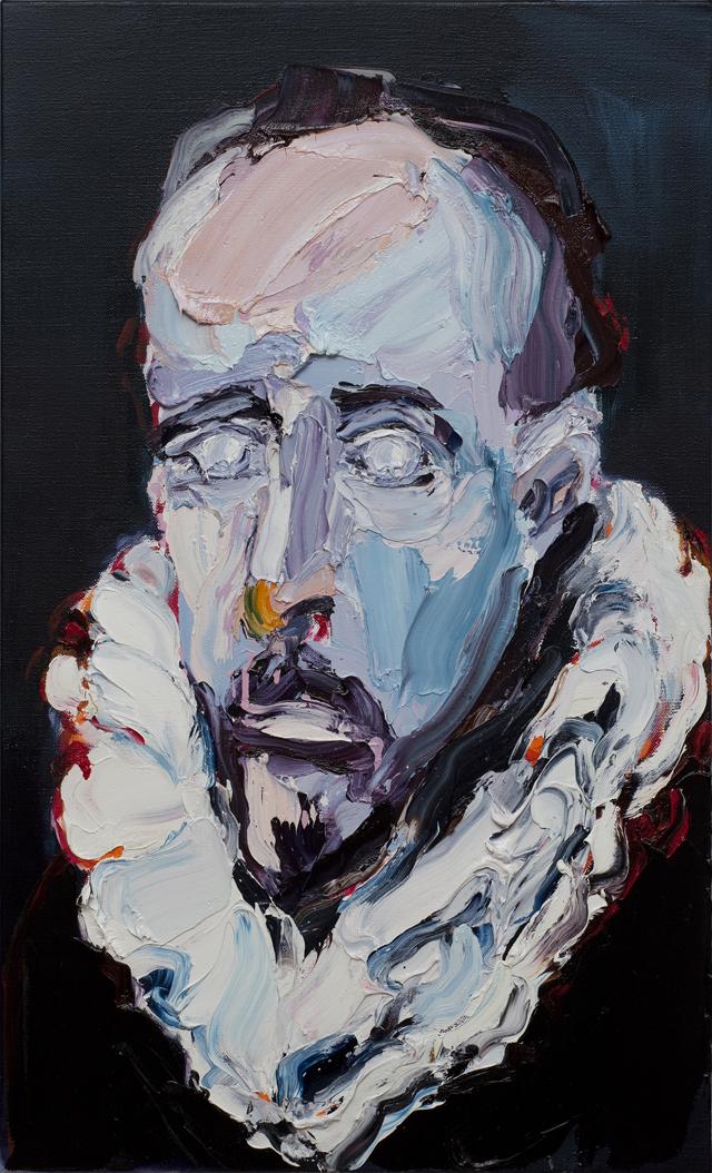 CRAIG WADDELL  Velvet Dreams II - Study (after Velázquez)  2012 oil on linen 91 ×56 cm
