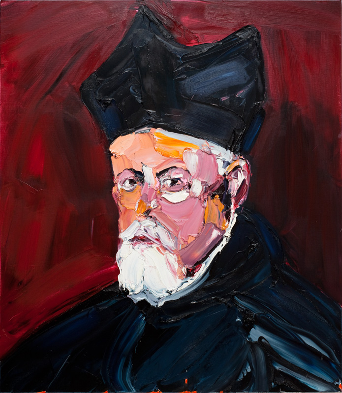 CRAIG WADDELL  Visible Head (after Velázquez)  2012 oil on linen 152 × 132 cm