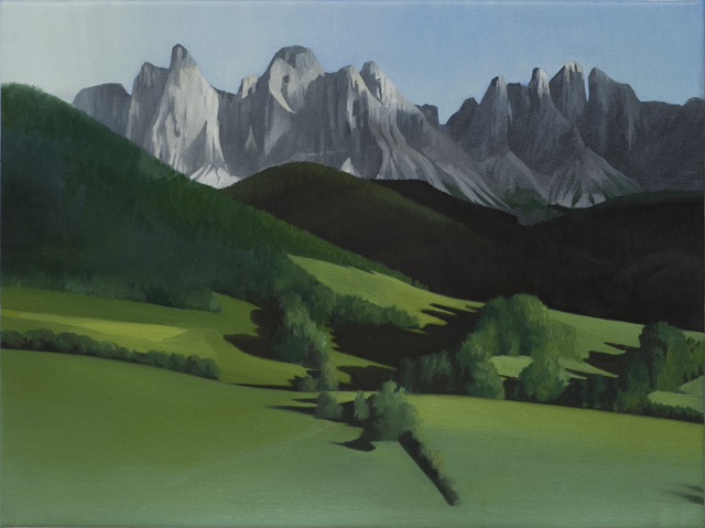 SIMON KENNEDY Landscape Study 2011 oil on linen 50 × 38 cm