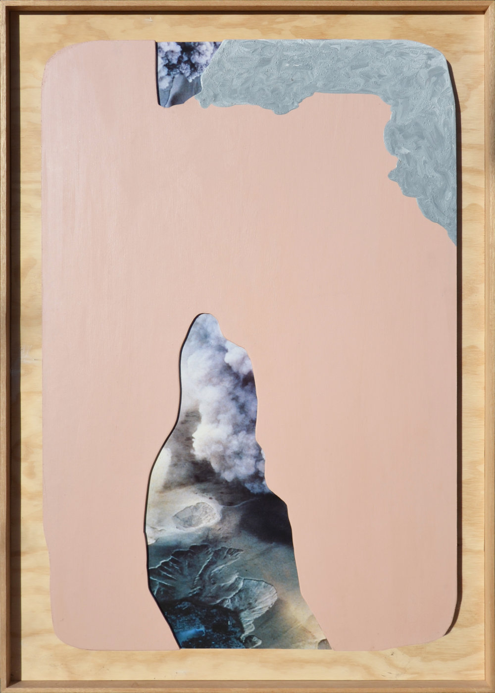 ELOISE KIRK  Northland  2018 collage, acrylic, resin on board 80 × 150 cm