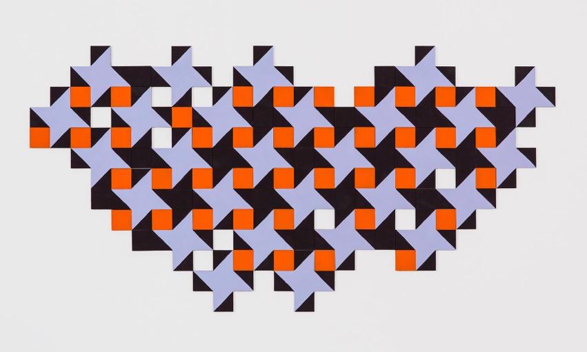 SUSAN BURET  Monarch  2015 flashe vinyl on mdf 65 ×130 cm