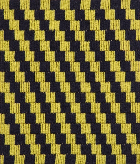 SUSAN BURET  Lepidoptera #10  2015 wool on tapestry mesh 24.5 ×21 cm