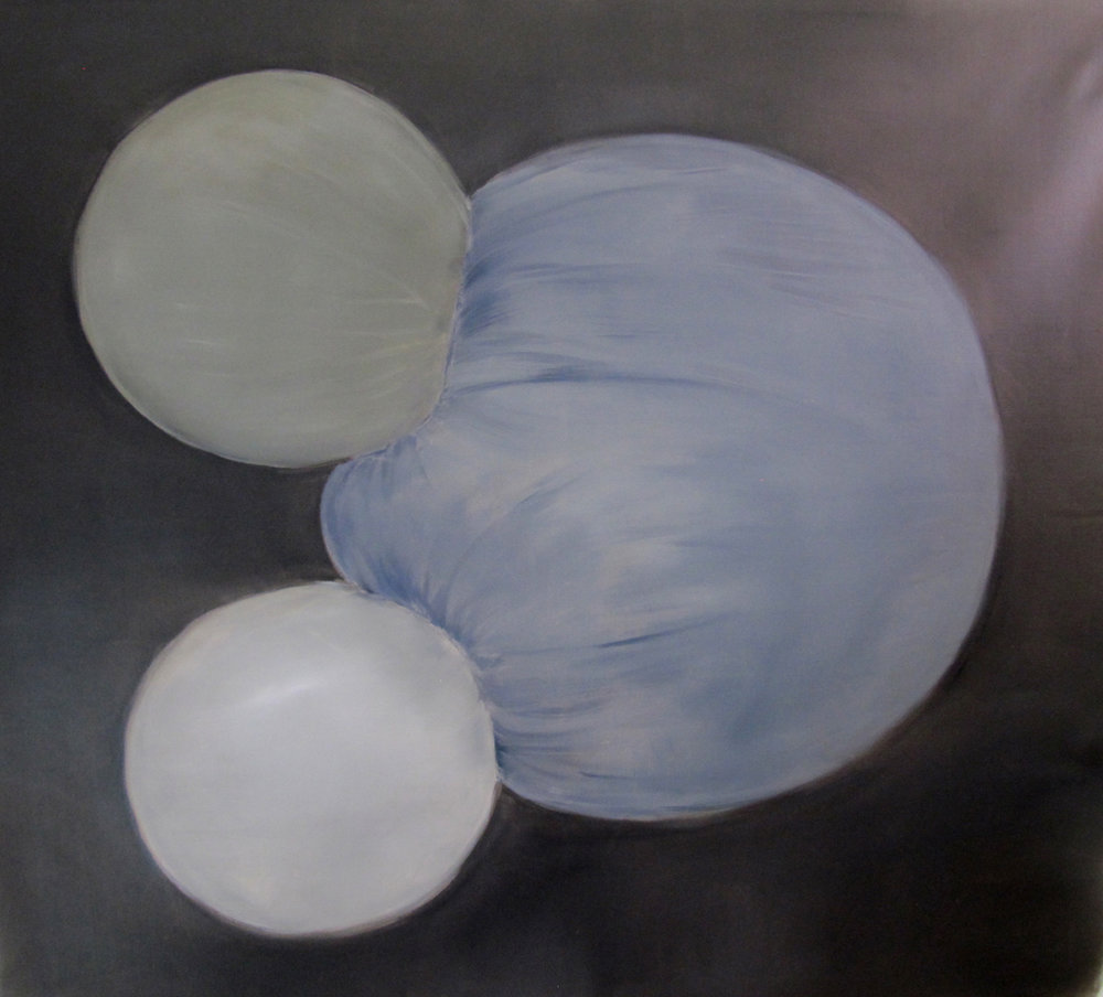 JELENA TELECKI  Collision 1  2013 oil on canvas 138 × 153 cm