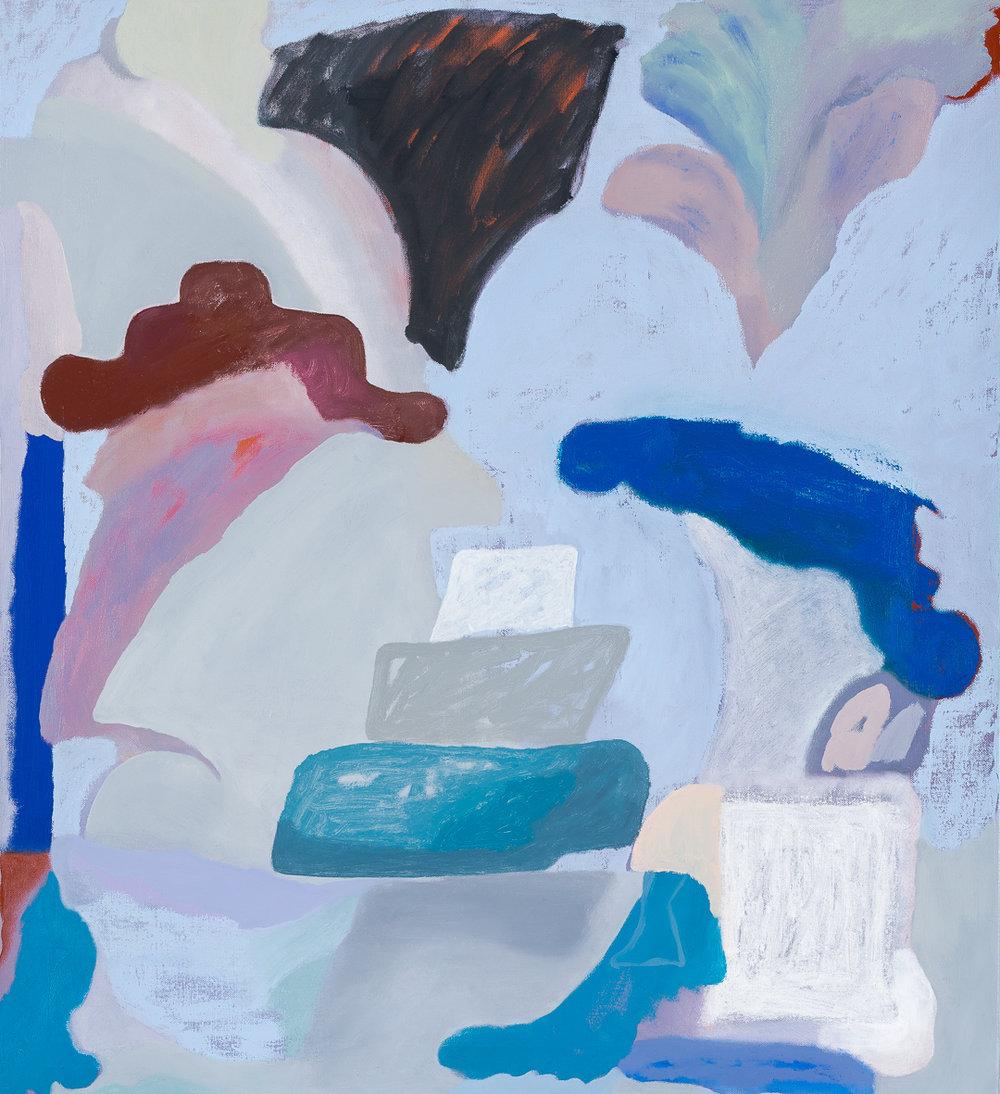 TONEE MESSIAH  Meritocracy  2018 Oil on linen 84 x 76 cm