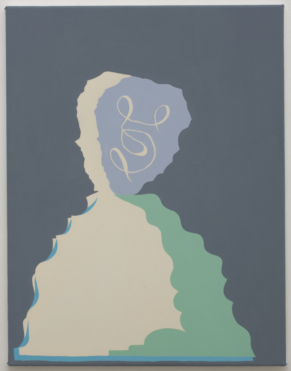 MICHELLE HANLIN  Man Mountain  2018  Vinyl paint on canvas 66 x 51 cm