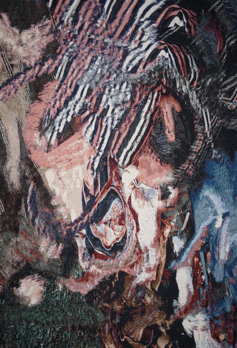 RY DAVID BRADLEY  /Tx3Jp+w , 2018 Dye Cotton Tapestry  190cm x 140cm