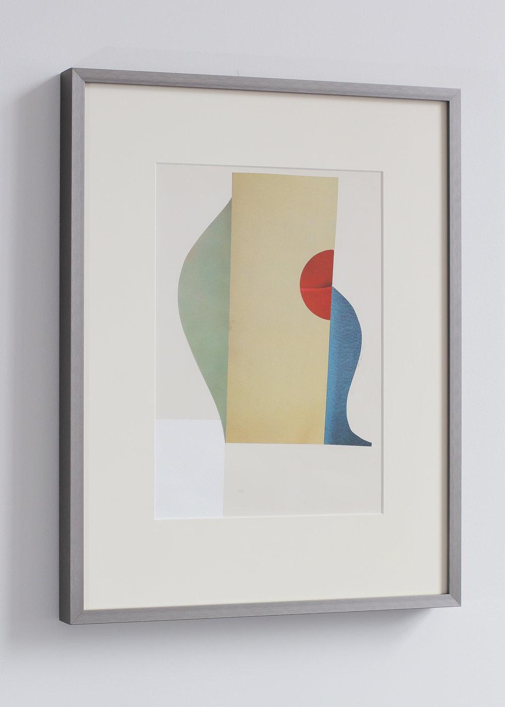 ED BATS St Balthans Boogaloo, 2018  Paper collage, acrylic & oil stic  34.5 x 44.5 cm