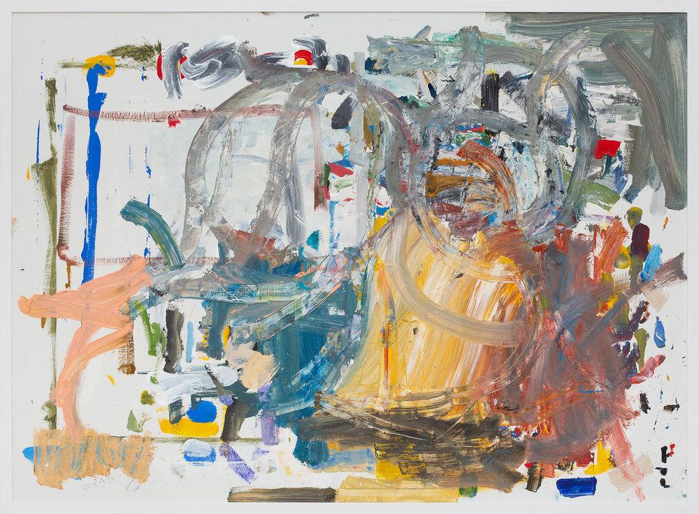 JAKE WALKER  Untitled  (2018) oil painting on board 92 × 125.5 cm