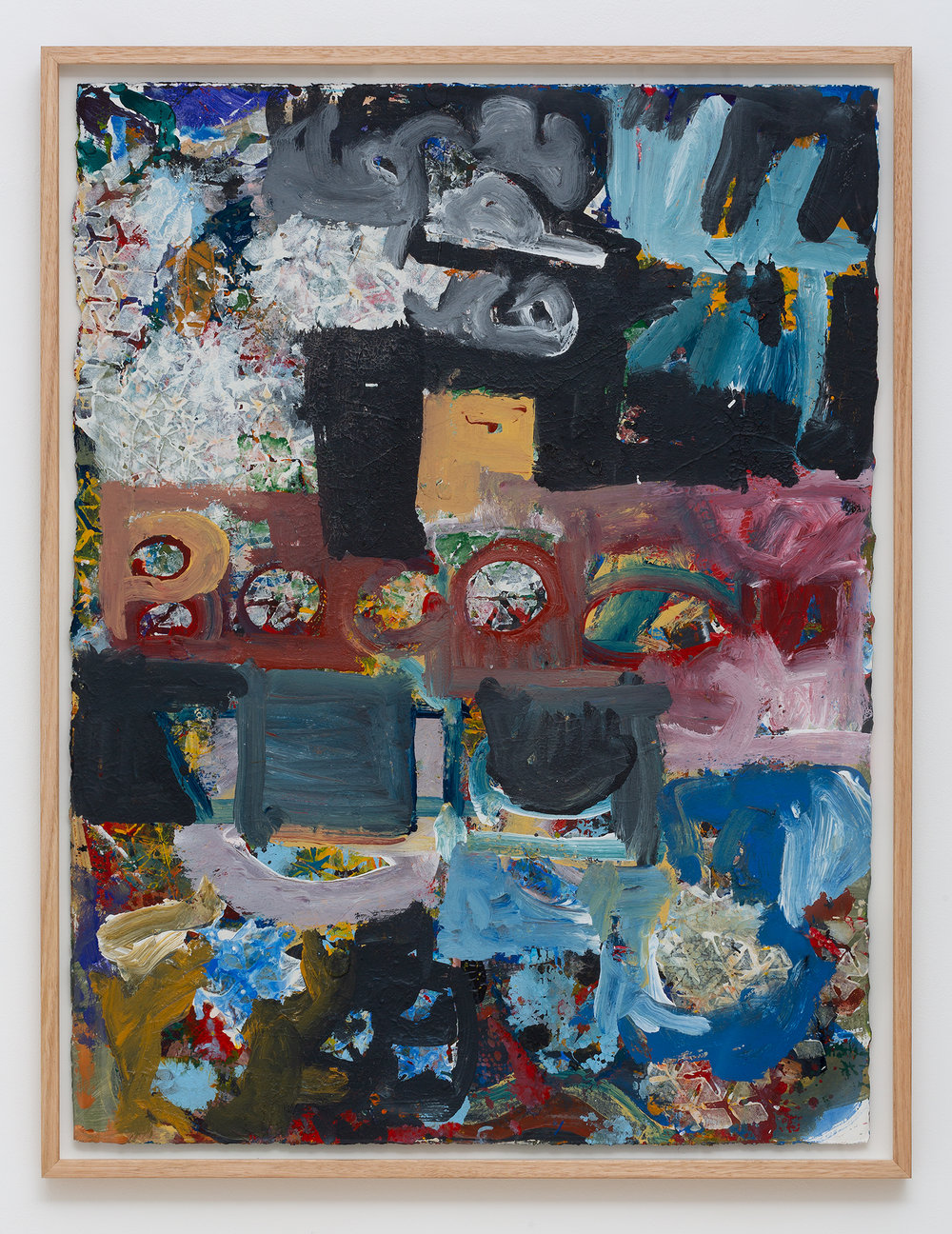 JAKE WALKER  Untitled ( 2018)  acrylic on paper 82 x 62 cm (framed)