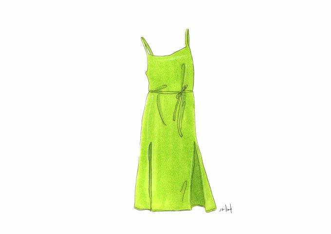 Sir the Label / Alek Midi Dress in Olive