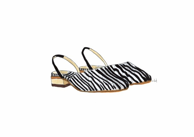 Zimmerman / printed slipper