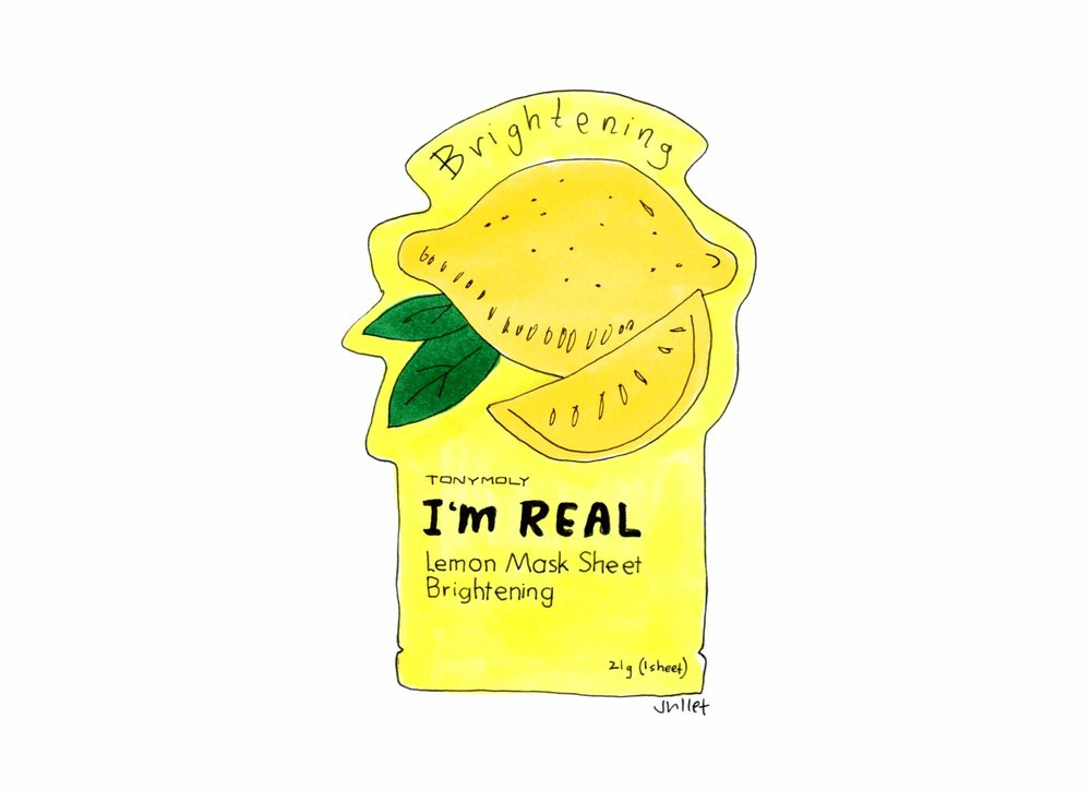 tonymoly i'm real brightening sheet mask_the juliet report