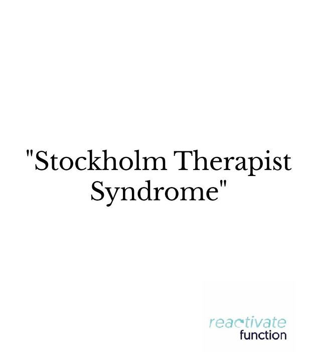 Feelings of trust or affection felt in cases of extended and unsuccessful treatment, usually in alignment with failed rehabilitation syndrome in chronic pain-taken by a patient towards a practitioner or therapist.  #stockholm#therapist#syndrome #functionaltraining#youngatheart#keepactive#movementtherapy#brisbane#ageisjustanumber#livefit#neurosurgeon#workout#reactivate#function#excercise#passion#healthy#lifestyle#fitnessmotivation#keepactive#live#life#movement#coaching#teamworkout#strength#goodform#preventinjury#healthylifestyle#liftwieghts#therapy