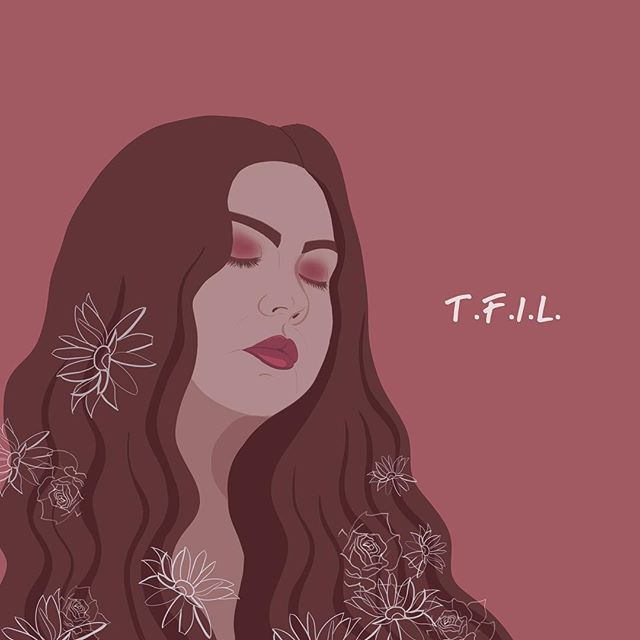 "artwork I did for beautiful @mlynnsta's new groovy lovey single ""T.F.I.L"" ♥️ . . . . . . #art #sketch #pencil #drawing #doodle #illustration #artistsoninstagram #wip #pen #animation #draw #artfeature #sketchbook #miami #cartoon #illustrator #미술 #그래픽디자인 #디자인 #음악 #삽화 @ask_the_dust @artfeatured"