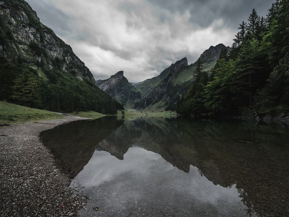 Reflection Game at Seealpsee - Switzerland ©drcapture