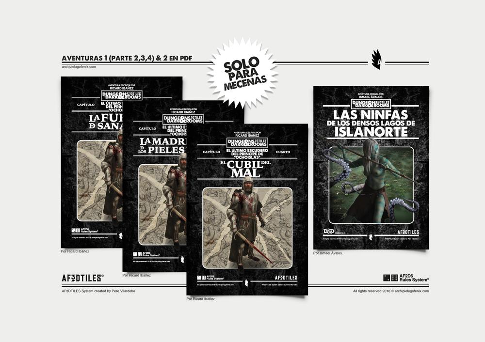pack pdf aventuras para mecenas dndr af3dtiles