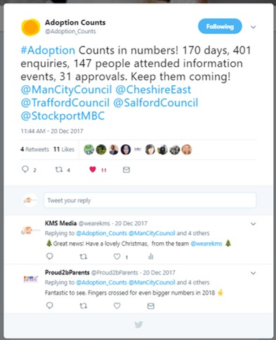 Adoption Counts shared the rising number of enquiries the new adoption service had received.
