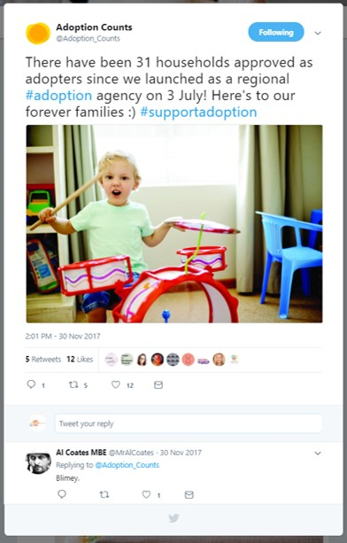Adoption Counts were excited to announce that 31 households had been approved for adoption since their launch in July.