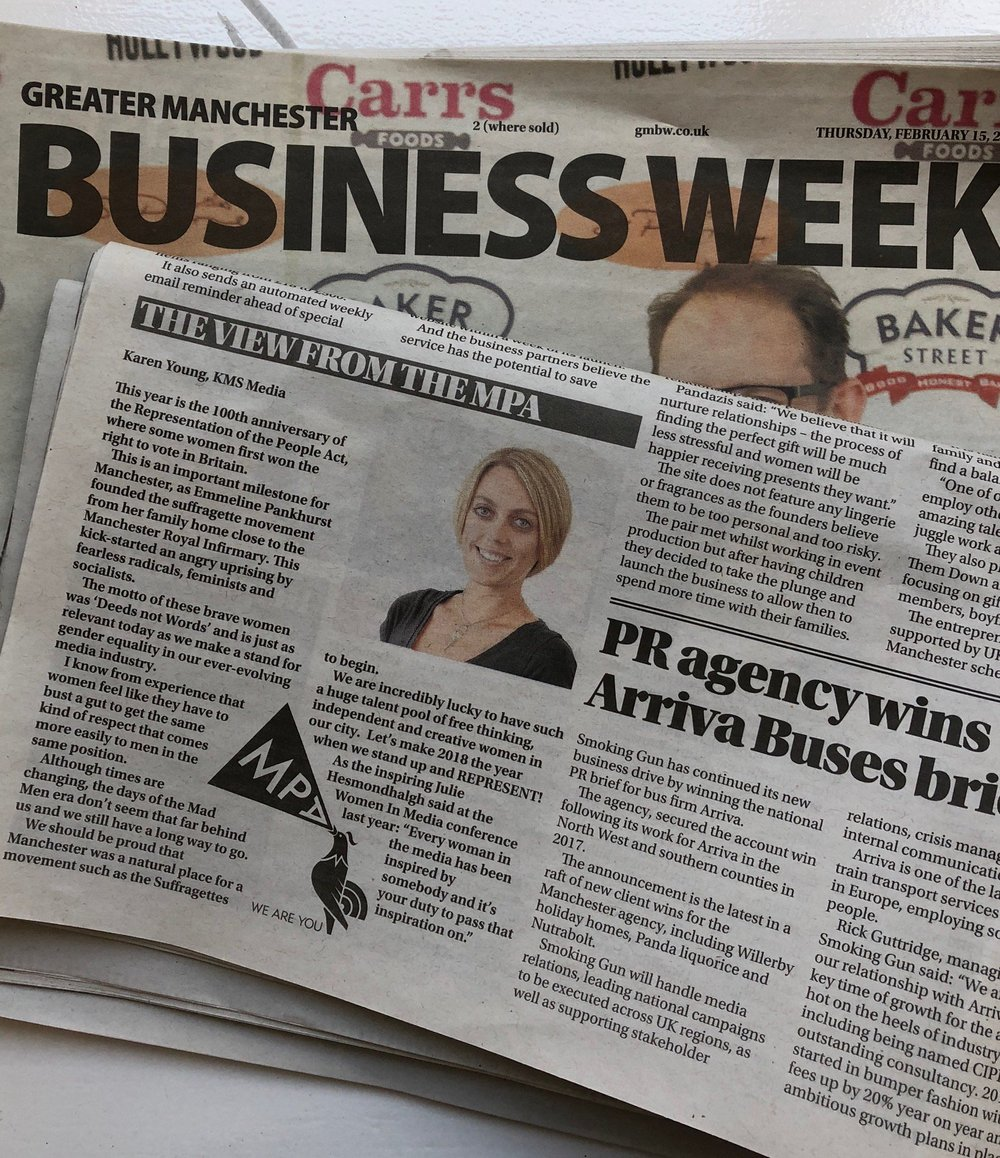 In recognition of the centenary of Votes for Women, Karen was featured in the 'View from the MPA' section discussing the importance of diversity and women in the media industry