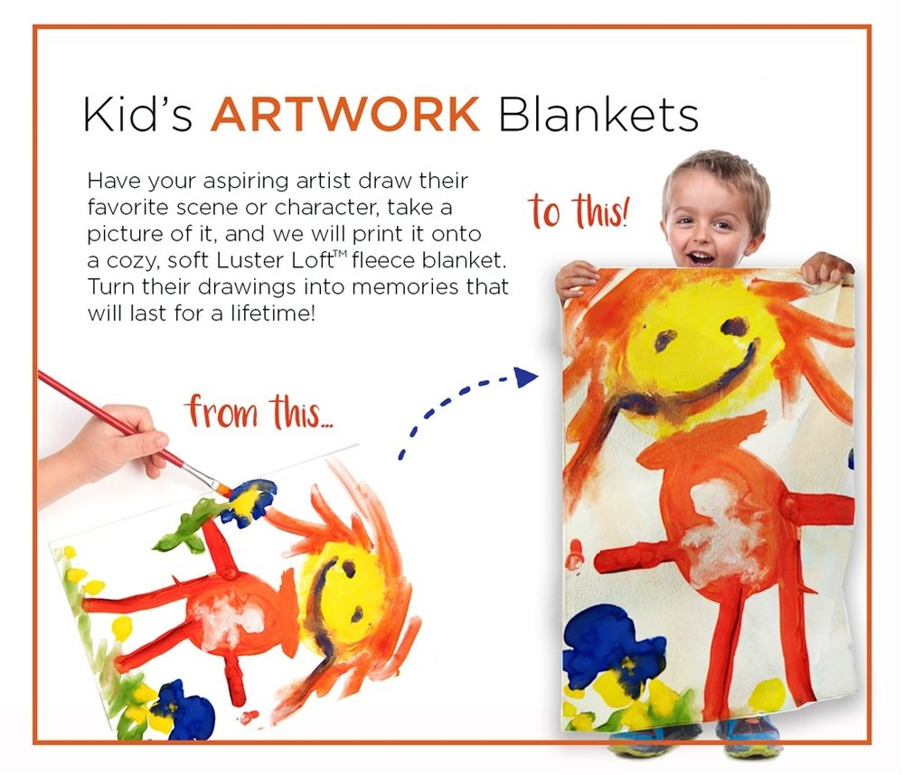 Kid's Artwork Blanket Concept