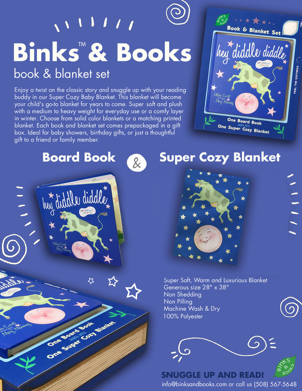 Binks & Books Sell Sheet for Hey Diddle Diddle