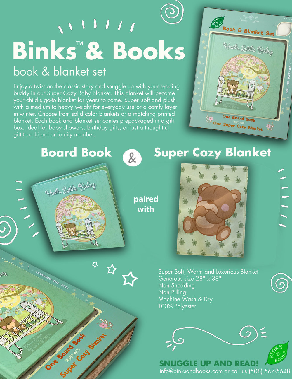 Binks & Books Sell Sheet for Hush Little Baby
