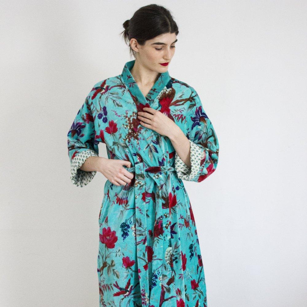Jaadu's velvet dressing gowns
