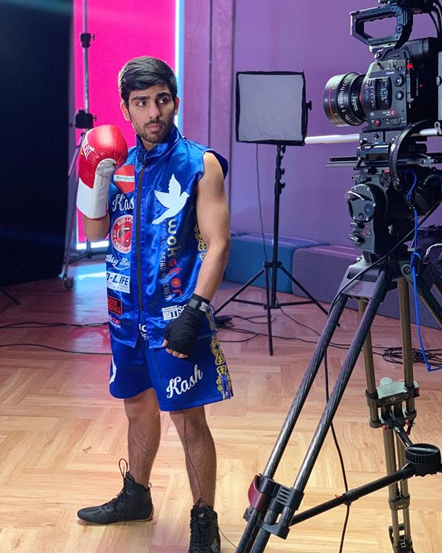 A day in the life of a professional boxer 🥊 Kash Farooq at the BBC Scotland 🏴 studios ahead of the Battle of Britain 🇬🇧 on the 25th of April at the Radisson Blu Glasgow. If you are not attending the event you can tune in and watch it on the tv 📺  #boxer #professionalboxer #bantamweight #titlefight #britishboxing #boxersofinstagram #bbcscotland #battleofbritain