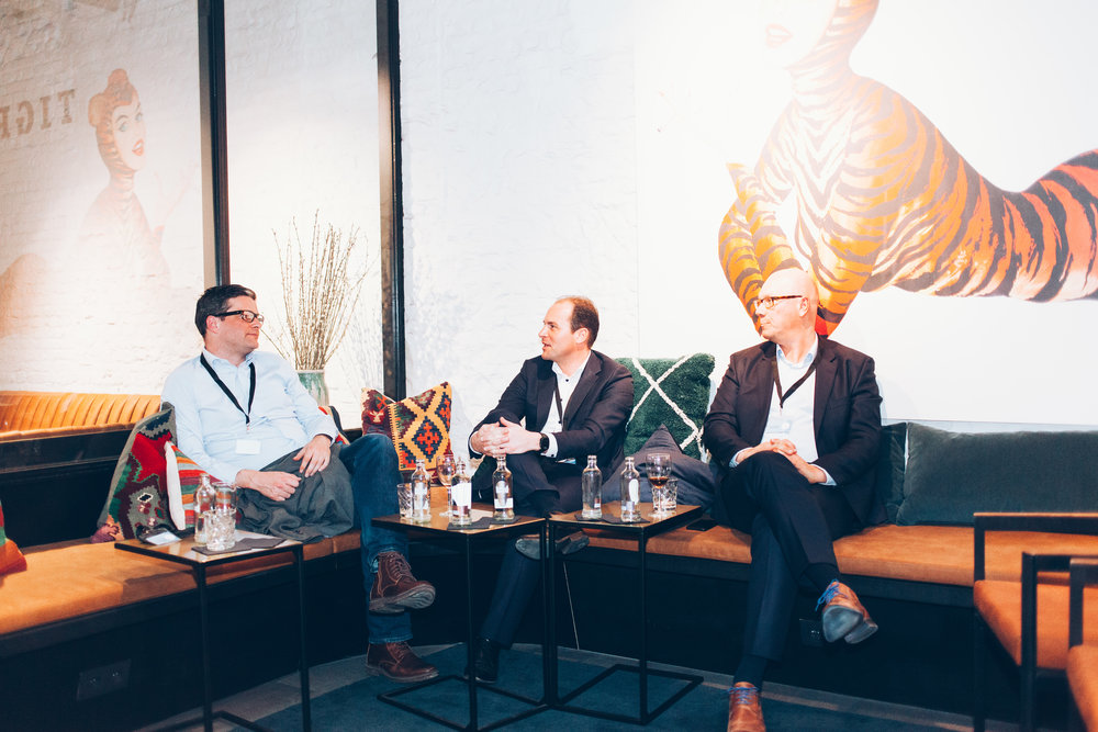 Left to right: Matthias Vandepitte (Fortino), Bart Luyten (Smartfin Capital) and Frank Maene (Volta Ventures)