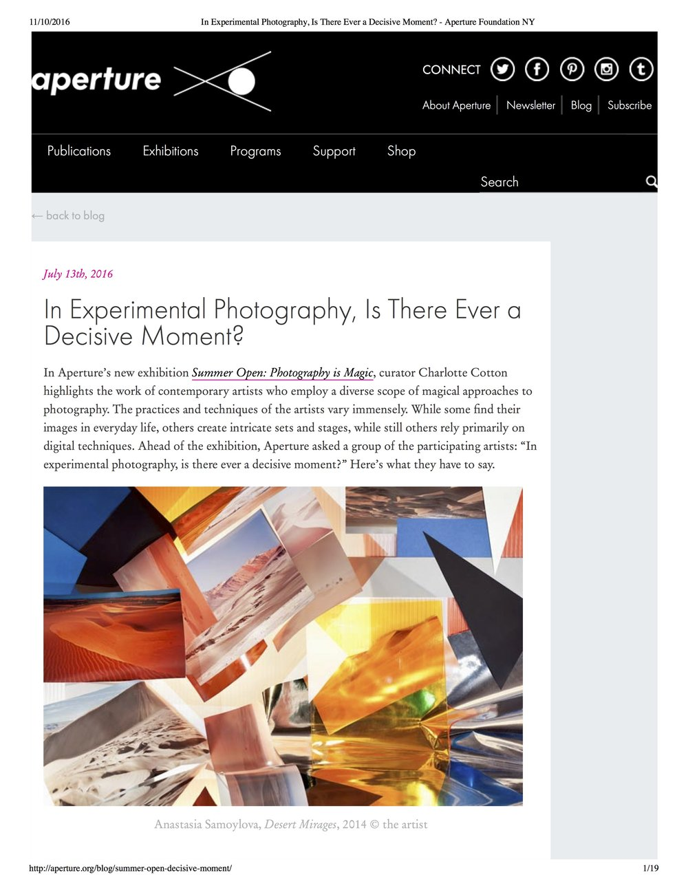 In Experimental Photography, Is There Ever a Decisive Moment?  Aperture Blog