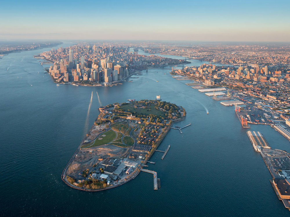 Governors Island in New York Harbor