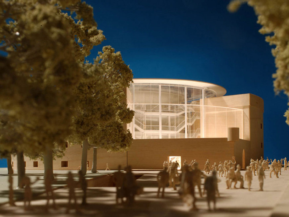 Model of the proposed theatre by Foster + Partners