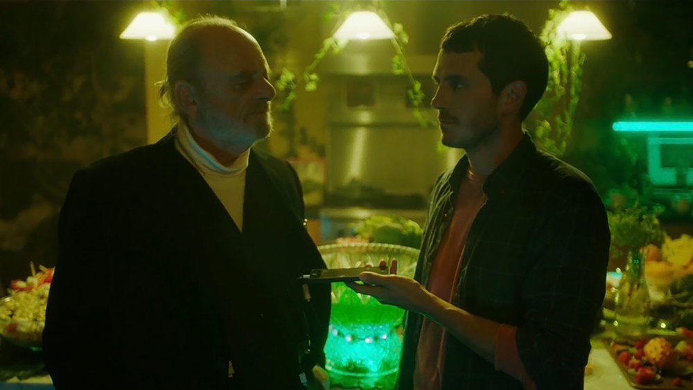 Harris Yulin (Charles) and Tate Ellington (Alex)